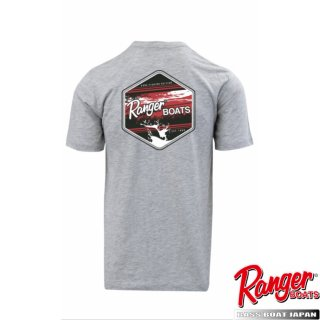 【Ranger Boats レンジャーウェア】Graphic S/S Tee - Heather Grey - Gone Fishing (Red)
