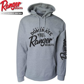 【Ranger Boats レンジャーウェア】Pullover Hoodie - Heather Grey-Driven to Dominate