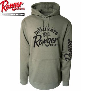 【Ranger Boats レンジャーウェア】Pullover Hoodie - Olive-Driven to Dominate